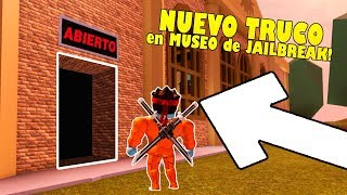 UNHELPED MUSEUM ESCAPE TIP IN JAILBREAK ! ROBLOX
