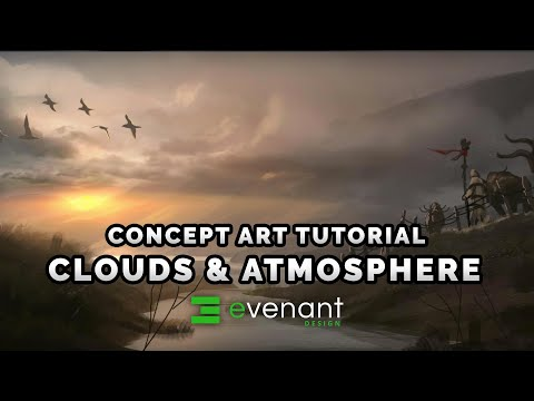 Clouds & Atmosphere Painting Tutorial - Digital Painting Basics - Concept Art