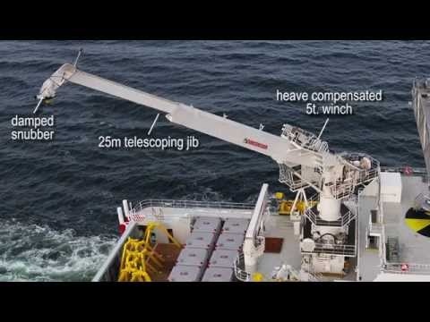 MacGregor three-axis motion compensation offshore crane