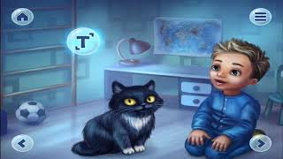 The Boy, the Cat and the Darkness | | English Short Stories For Children | AppGame For Kids