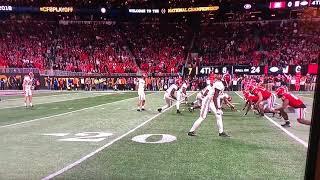 Georgia vs Alabama 2018 Championship Game Punt Block Offsides Penalty.....