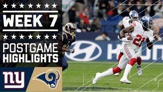 Giants vs. Rams   NFL in London Week 7 Game Highlights