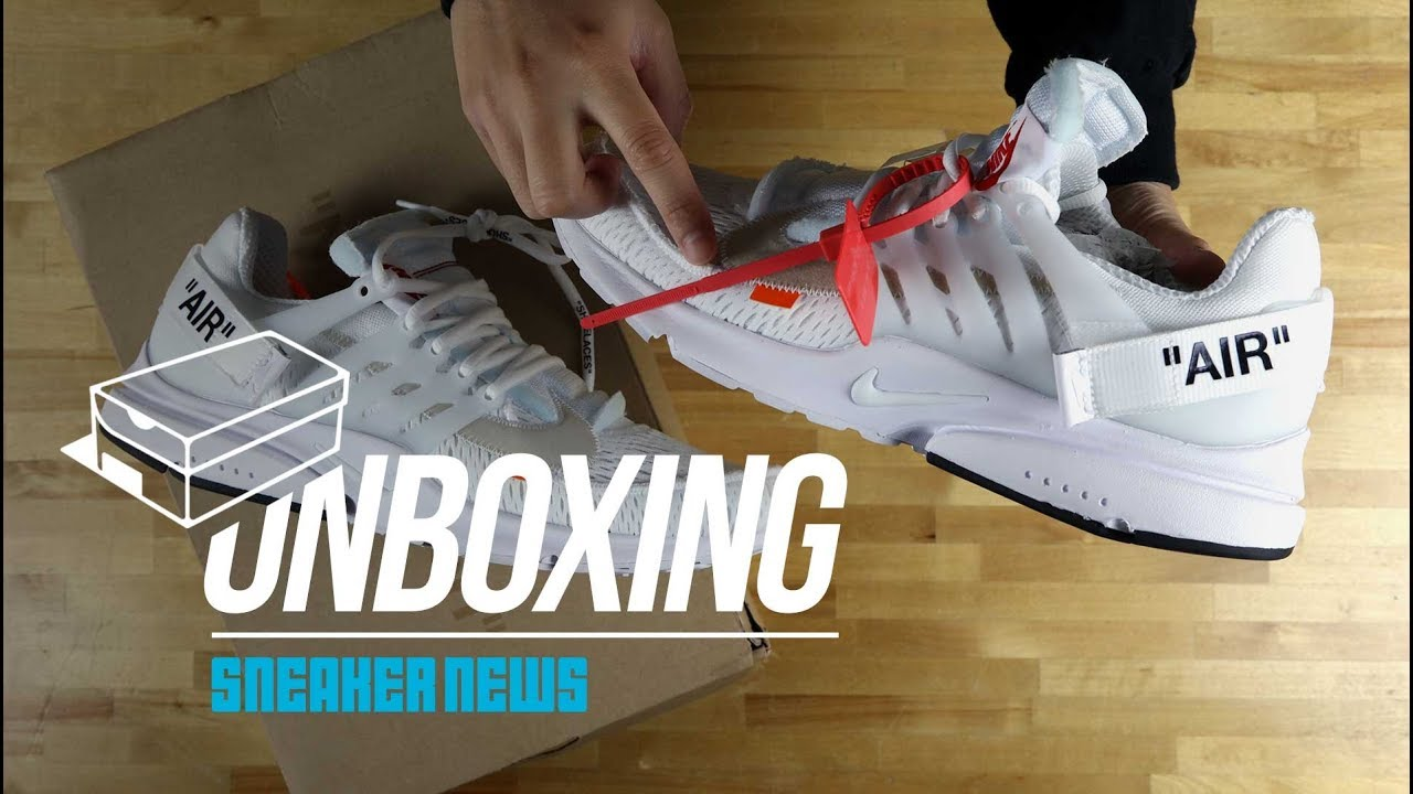 "b2828e6c04e3 Unboxing The OFF-WHITE Nike Presto ""White"" - YouTube"