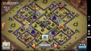 "GoHo by painserver ""CYANIDE base"" 3 Star MAX TH9 clash of clans"