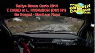 rallye monte carlo 2014 T. DARD et L. PASQUION special sospel breil sur roya