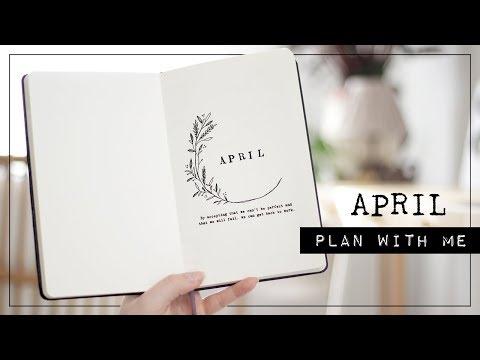 plan with me // my april bullet journal setup