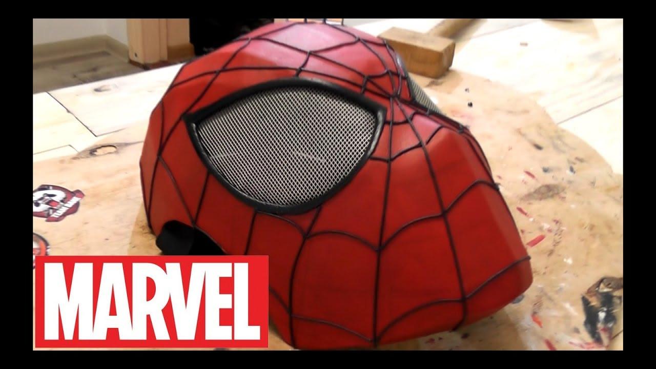Как сделать маску новый человек паук фото 72