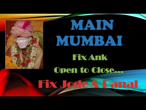 Main Mumbai 18 09 17 Fix Ank o2c, Jodi & Panel Never Fail Game!!!