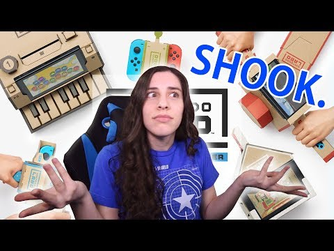 HYPED ABOUT CARDBOARD! Nintendo Labo Reaction