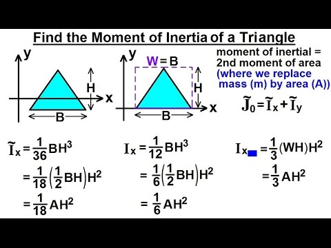 Mechanical Engineering: Ch 12: Moment of Inertia (27 of 97) Moment of  Inertia=? Triangle
