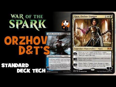 ORZHOV D&T'S - WAR OF THE SPARK - STANDARD DECK TECH / MTG