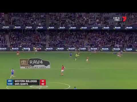 Toby Greene kick Luke Dahlhaus in the face