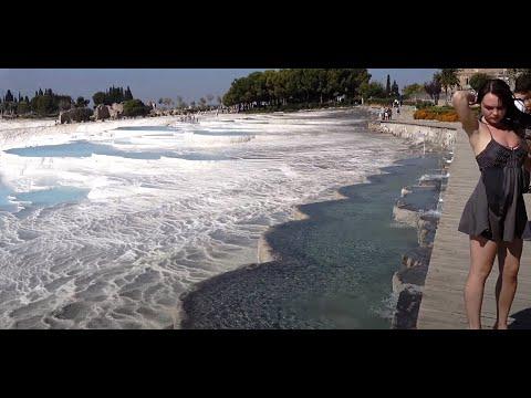 Pamukkale - Denizli - Cotton Castle - Travertines - 4K Ultra HD 2160p