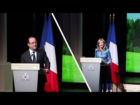 Catherine Powell & François Hollande - 30 ans de la Convention d'Euro Disney et la France