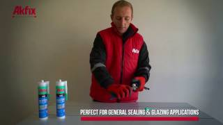 Window application with Akfix 100E Universal Silicone Sealants