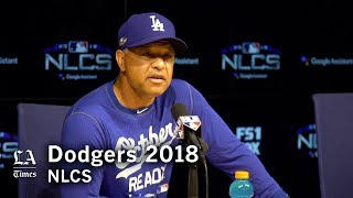 Dodgers NLCS 2018: Dave Roberts on the Brewers' bullpen and when to bunt thumbnail