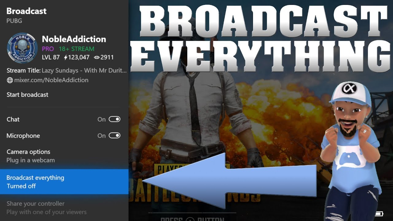 New Broadcast Everything Feature For Mixer Streaming