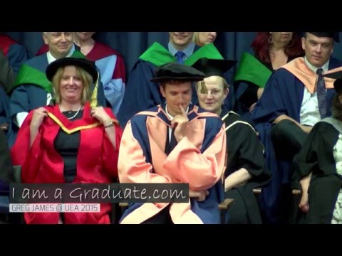 Greg James receives honorary degree at UEA