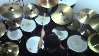Eddie Rabbitt - I Love A Rainy Night (Drum Cover + Lyrics)
