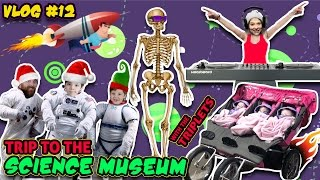 Family Trip to Science Center | WE LOST REY | DJ MOMMY MOM | Skeletons! (Vlog #13)