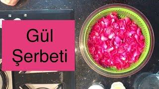 Gül Şerbeti Nasıl Yapılır  Gül Şurubu   Ramazan Şerbeti   Osmanlı Saray Mutfağından Gül Şerbeti