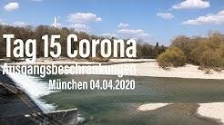 Tag 15: Corona Ausgangsbeschränkungen München (04.04.2020 Thalkirchen / Isar/ Flaucher)