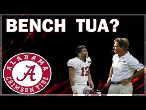 Why Nick Saban should Bench Tua Tagovailoa