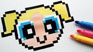 Handmade Pixel Art - How To Draw The Powerpuff Girls #pixelart