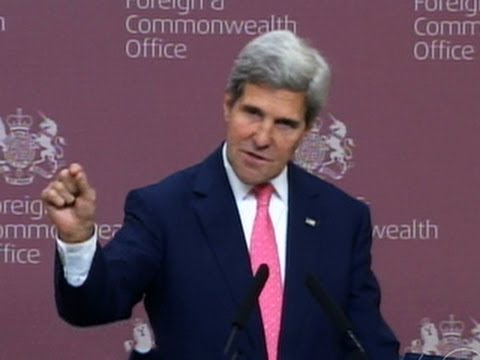 """Kerry: """"We know"""" Assad regime behind chemical attack"""