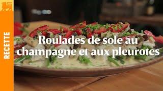 Roulades de sole sauce aux shii-také et pleurotes