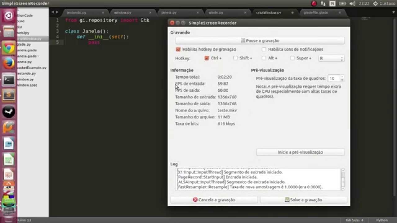 ... para criptografar palavras em python com GUI Glade - YouTube