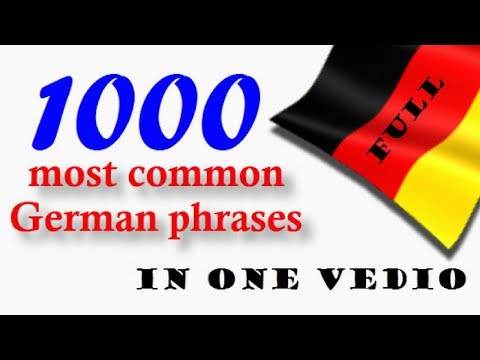 1000 most common German phrases│Full│in one video