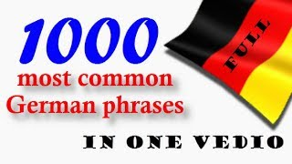 1000 most common German phrasesFullin one video