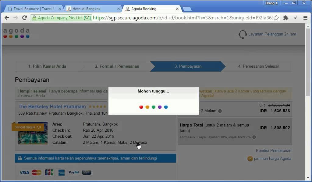 tutorial booking agoda dengan mandiri clickpay