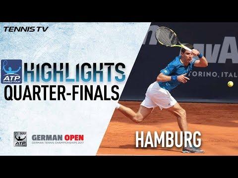 Highlights: Delbonis, Kohlschreiber Reach Hamburg SFs 2017