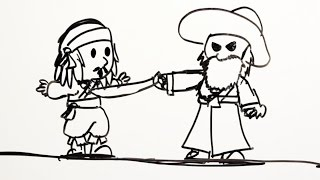 Pirates of the Caribbean as told by Whiteboards | Oh My Disney