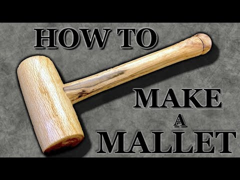 How To Make A Wood Mallet (Beginner's Wood Turning Project)