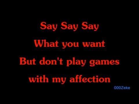 Say Say Say [LYRICS ON SCREEN] - Michael Jackson and Paul McCartney