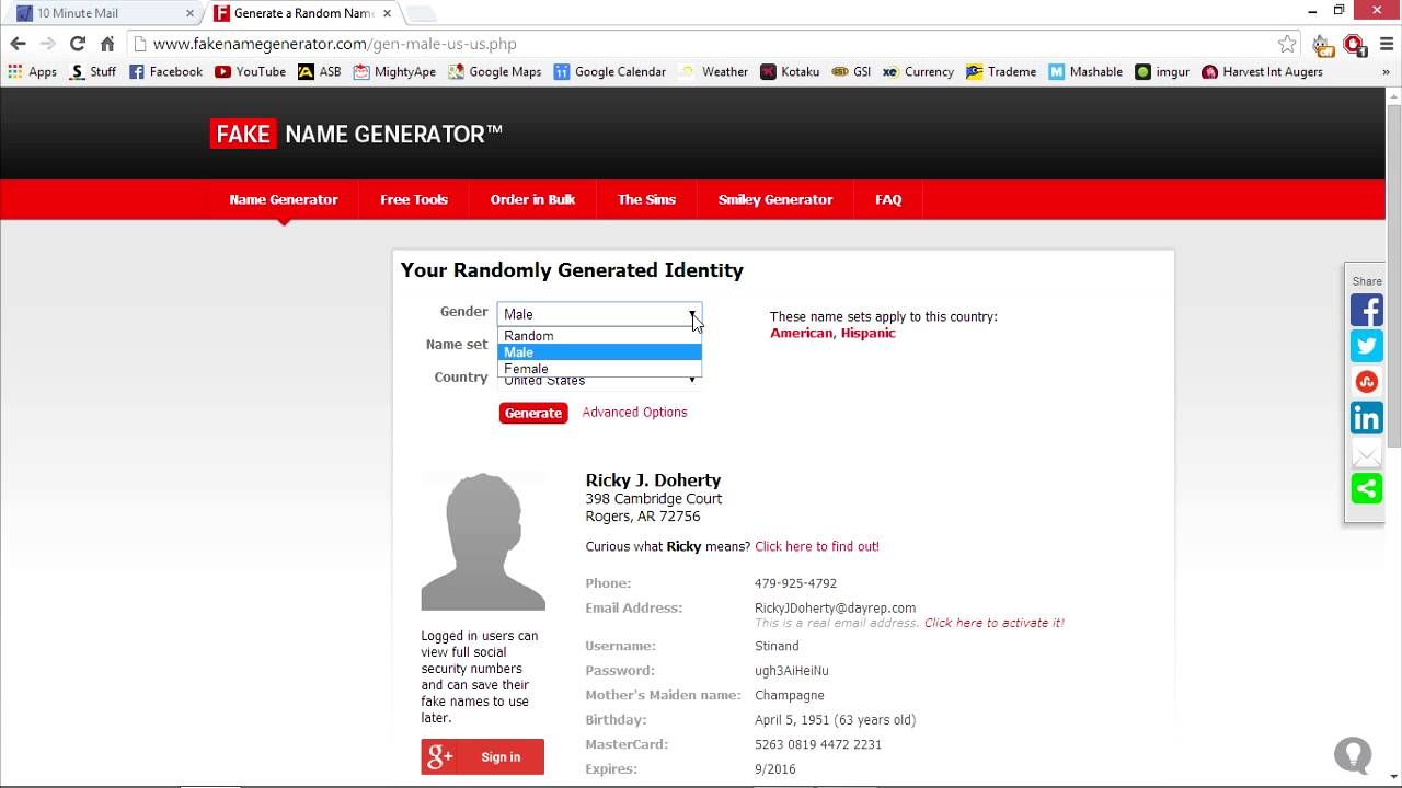 Account Name Youtube Generator Temporary address amp; Free Email - Fake disosable