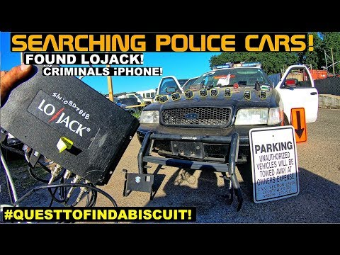 Searching Police Cars Found LoJack & Loyalist iphone! Crown Rick Auto