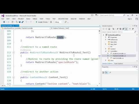 ASP NET MVC - Part 15 (ActionResult, Creating API using MVC Controller)