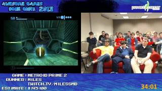 Metroid Prime 2 - Speed Run in 1:32:59 by Miles live for Awesome Games Done Quick 2013 (GCN)