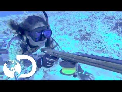 Kimi Werner: experta en pesca con arpón - Guerreros del Pacífico l Discovery Channel