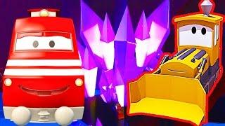 Поезд Трой и Застрял в туннеле в Автомобильный Город | Мультфильм для детей