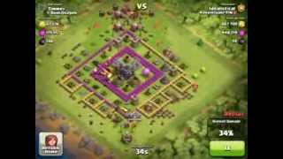 Clash of Clans - 1 260 000 resource raid using dragons