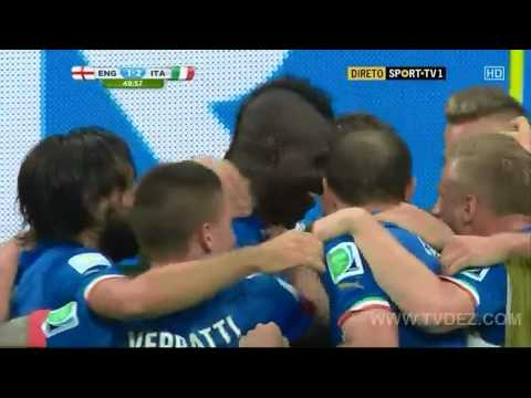 Mario Balotelli Goal ! England vs Italy 1-2 World Cup 2014