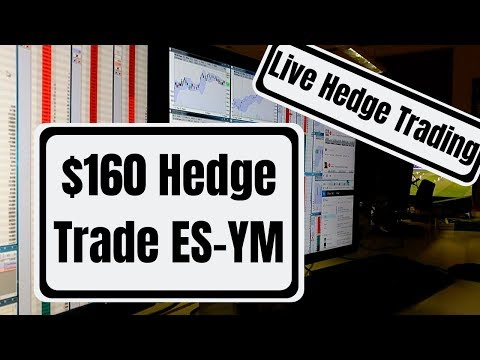 Live Hedge Trading +$160,00 trading Emini – DowJones Spread, Live Trade recap January 10th 2019