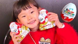 자이언트 산타 서프라이즈 에그 먹방 장난감 놀이 |뽀로로 타요 장난감 애니 машинки | LimeTube & Toy