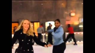 Caroline Wozniacki and Serena Williams go ice skating in New York City