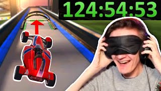 I was the FIRST to beat Trackmania Blindfolded